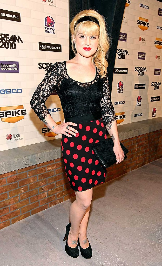 Kelly Osbourne in Dolce & Gabbana's polka dots and lace.