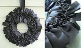 I love the chic, black look of this ribbon wreath. Find out how to DIY it here.