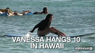 Video of Vanessa Hudgens Surfing in Hawaii 2010-10-19 13:54:14