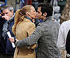 Slide Picture of Blake Lively and Penn Badgley Kissing on Gossip Girl Set