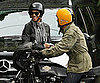 Slide Picture of Halle Berry and Olivier Martinez on Motorcycles