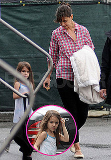 Pictures of Katie Holmes and Suri Cruise on the LA Set of Jack and Jill