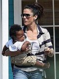Pictures of Sandra Bullock and Baby Louis in TX