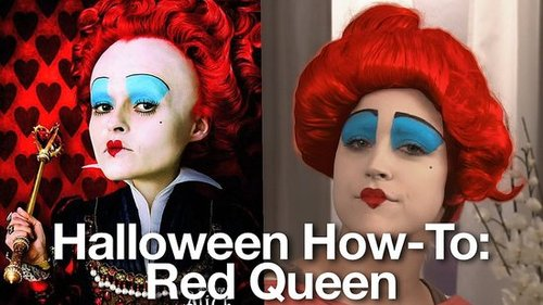 Halloween Costume Makeup Tutorial: Queen of Hearts From Alice in Wonderland