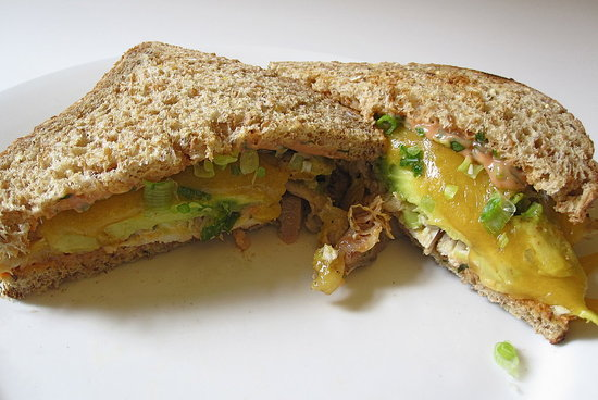 Chicken, Avocado, and Cheddar Melt Recipe 2010-10-22 12:01:33