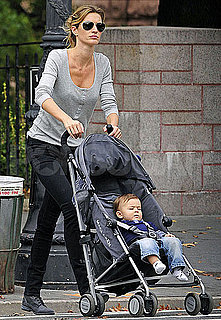 Pictures of Gisele Bundchen With Baby Ben in Central Park