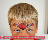 How to Create a Realistic Wound For Halloween Just Using Face Paint