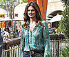 Slide Picture of Cindy Crawford Being Interviewed in LA