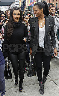 Pictures of Kim Kardashian and Ciara Enjoying Brunch Together in NYC