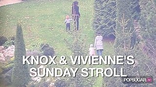 Video of Knox and Vivienne Jolie-Pitt Walking in Budapest 2010-10-25 09:25:15