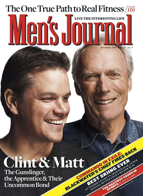 Matt Damon and Clint Eastwood in Men's Journal