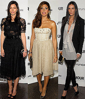 Pictures of Jessica Biel, Eva Mendes and Demi Moore at Glamour Reel Moments