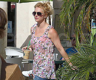 Slide Picture of Britney Spears Getting Starbucks