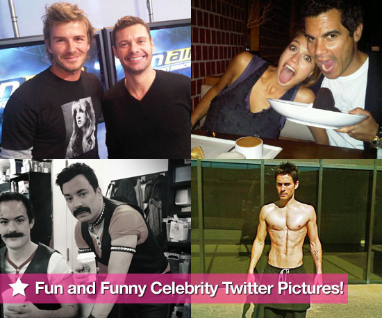 David Beckham, Jessica Alba, Jimmy Fallon, Jared Leto, and More in This Week's Fun and Funny Celebrity Twitter Photos!