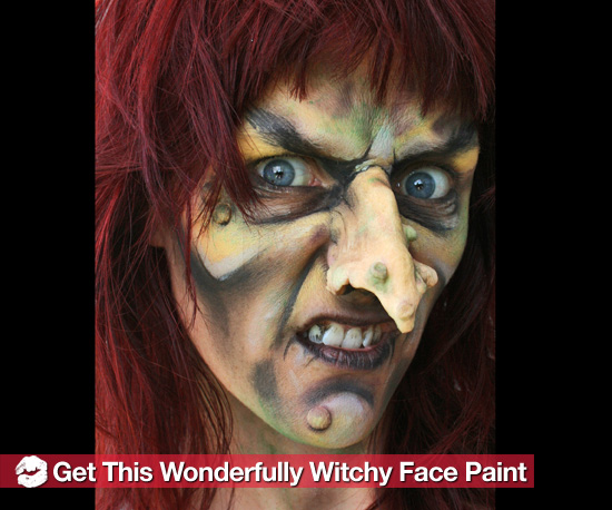 How to Create a Scary Witch Halloween Face Paint Look - Witch Face Paint And Makeup Ideas ...