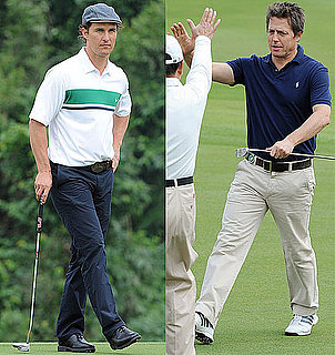 Pictures of Hugh Grant, Matthew McConaughey Playing Golf in China