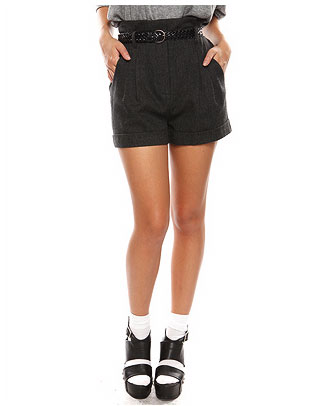 High Waist Wool Blend Trouser Short ($23)