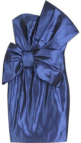 Msrchesa Notte - LARGE BOW SILK COCKTAIL DRESS
