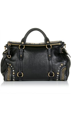 Miu Miu - STUDDED LEATHER BAG