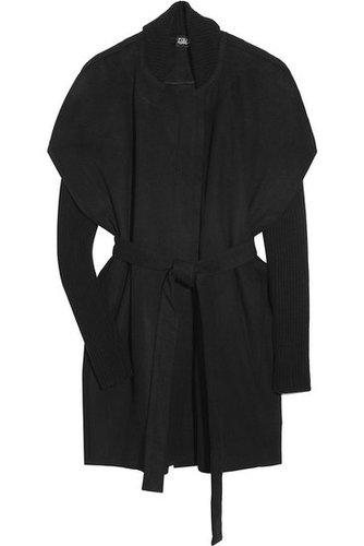 Edun-Asymmetric wool cape coat