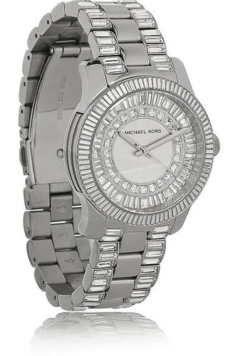 Michael Kors - Crystal-embellished stainless steel watch
