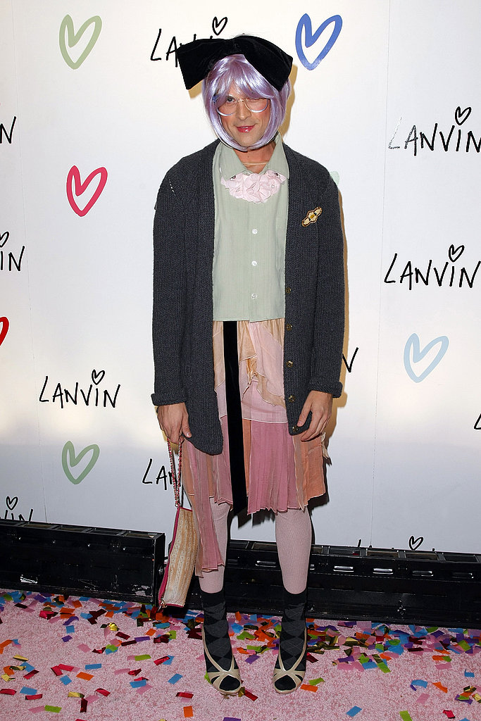 Brad Goreski won my heart with his Tavi Gevinson costume. He's even perfected her signature pigeon-toed pose.
