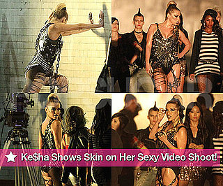 Pictures of Ke$ha Filming Music Video