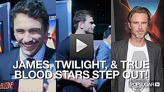 Video of James Franco at the 127 Hours Premiere With Kellan Lutz and True Blood Stars
