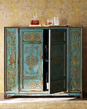 Horchow Hand-Painted Wood Cabinet