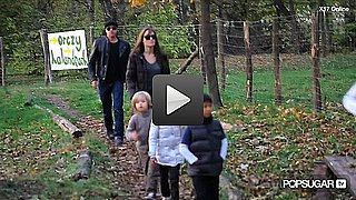 Video of Brad Pitt, Angelina Jolie, and the Kids at the Park in Budapest
