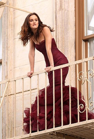 Leighton Meester shooting Vera Wang Fragrance commercial