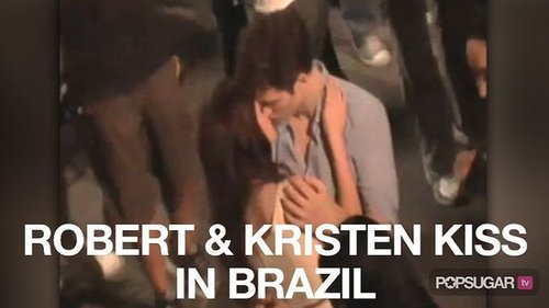 Video of Robert Pattinson and Kristen Stewart Kissing and Filming Breaking Dawn in Brazil 2010-11-08 09:27:46