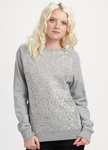Twisted Heart Shimmer Sweatshirt ($80, originally $132)