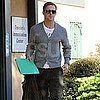 Pictures of Ryan Gosling Leaving a Traveler's Immunization Center