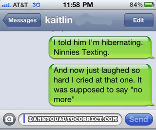 Funny iPhone Autocorrect Texts