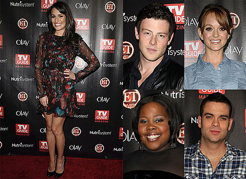 Lea Michele, Cory Monteith and the Cast of Glee at TV Guide's Hot List Party