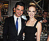 Slide Picture of January Jones, Dominic Cooper at Versace Dinner in London