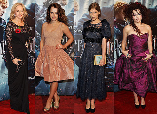 Helena Bonham Carter, JK Rowling, Bonnie Wright, Tom Felton at Harry Potter and the Deathly Hallows London Premiere