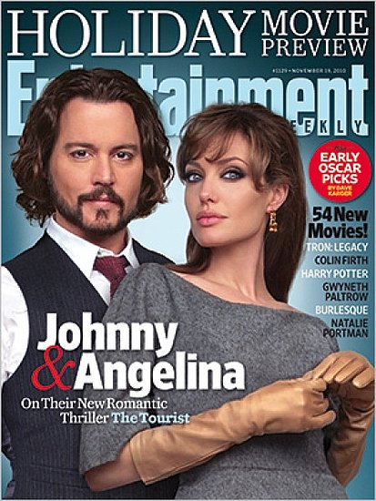 Angelina Jolie and Johnny Depp cover Entertainment Weekly-november 19,2010
