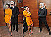 Victoria Beckham and Karl Lagerfeld at International Herald Tribune Fashion Conference