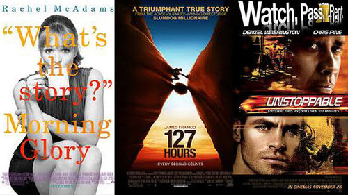 Video Reviews of Morning Glory, 127 Hours, Unstoppable