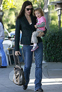 Pictures of Jennifer Garner and Seraphina Affleck Sharing Breakfast in LA