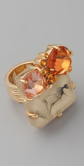 Marc by Marc Jacobs Stone Cluster Ring ($88)