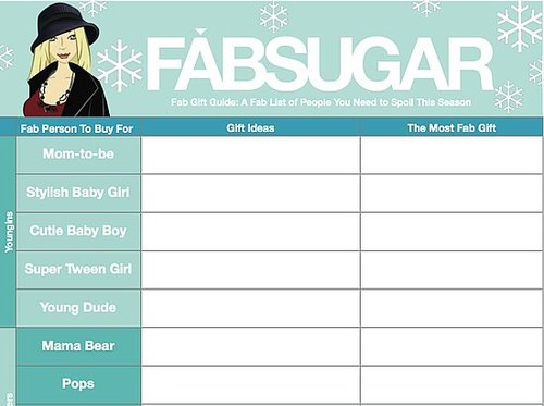 Free Holiday Gift Organizer Download