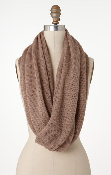 Ann Taylor Knit Endless Metallic Scarf ($48)