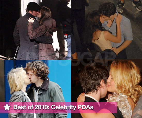 Best of 2010 Pictures of Celebrity PDAs Including Robert Pattinson and Kristen Stewart, Brad Pitt and Angelina Jolie