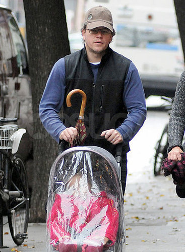Pictures of Matt Damon With Daughter Isabella in NYC