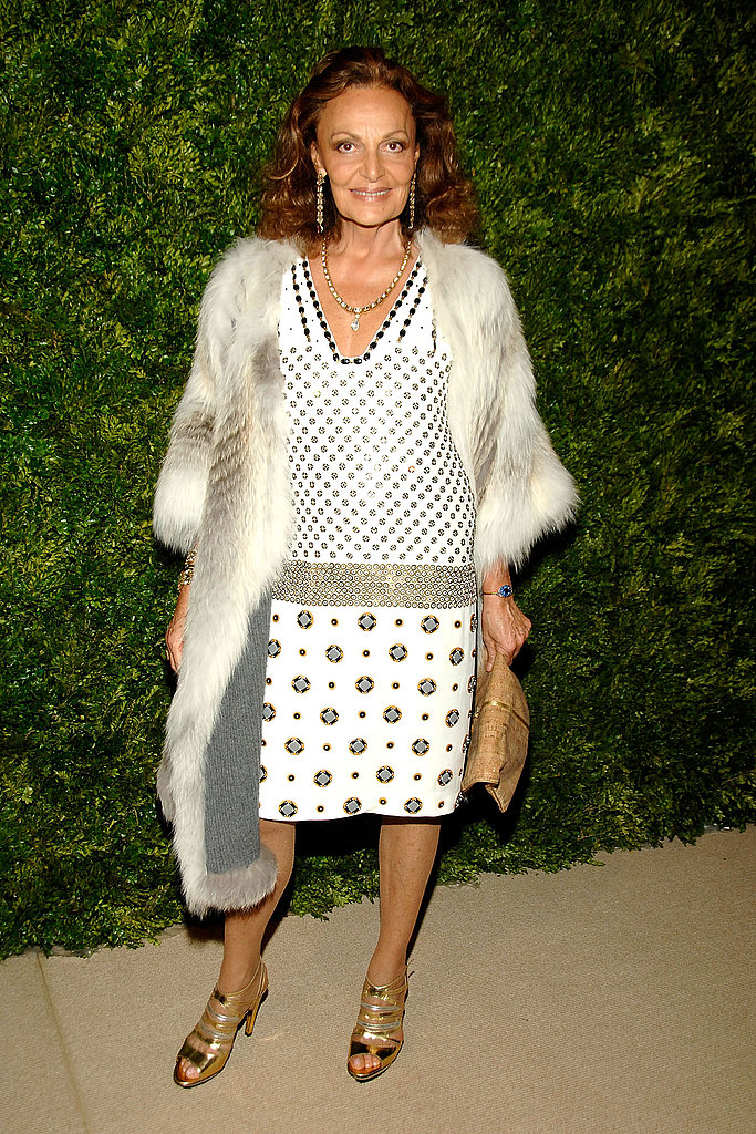 Diane von Furstenberg makes an utterly chic entrance.