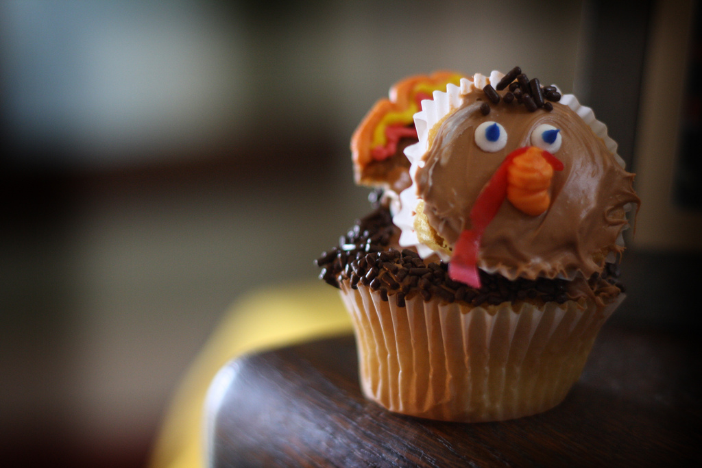 Double Gobble Cupcakes