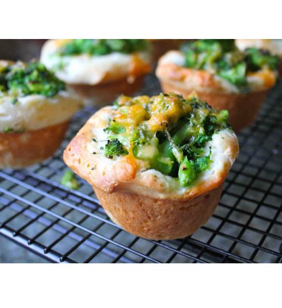 Broccoli Cheddar Biscuit Muffins